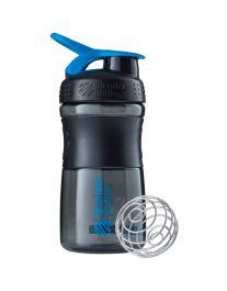 Шейкер - SportMixer 590 ml (black/cyan)