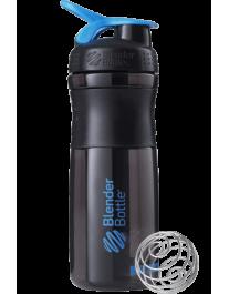 Шейкер - SportMixer 820 ml (Black/Cyan)