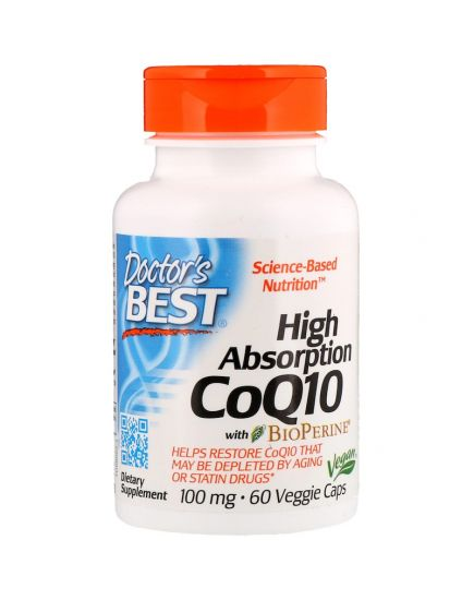 Антиоксиданты High Absorption CoQ-10 100 mg (60 caps) Doctor's Best. Фото | Add Power