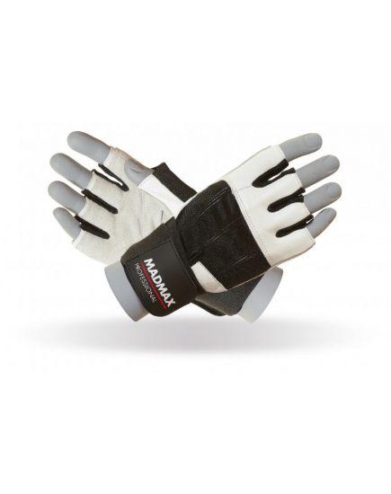 Спортивные перчатки Перчатки - MadMax Professional White (MFG-269) MadMax Sportswear. Фото | Add Power