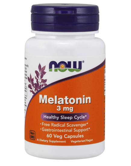 Для сна Melatonin 3 mg (60 caps) NOW Foods. Фото | Add Power
