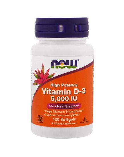 Отдельные витамины VITAMIN D-3 5000 IU (120 caps) NOW Foods. Фото | Add Power