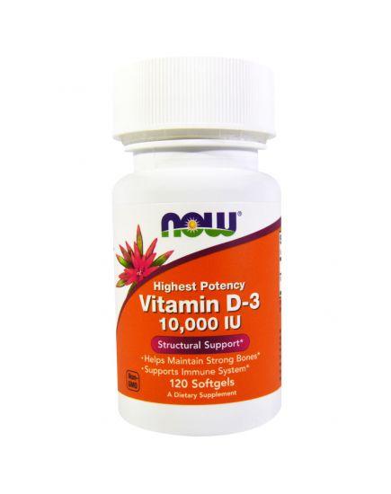 Отдельные витамины VITAMIN D-3 10.000 IU (120 softgels) NOW Foods. Фото | Add Power