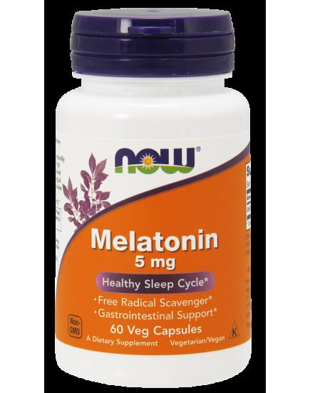Для сна Melatonin 5 mg (60 caps) NOW Foods. Фото | Add Power
