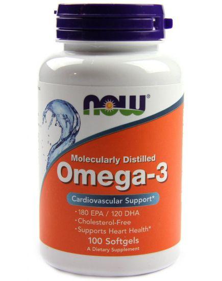ЗДОРОВЬЕ И ДОЛГОЛЕТИЕ OMEGA 3 1000 mg (100 caps) NOW Foods. Фото | Add Power