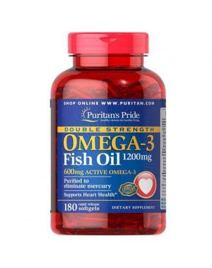 Омега (рыбий жир) OMEGA 3 DOUBLE STRENGTH 1200 mg (180 caps) Puritan's Pride. Фото | Add Power