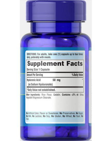 Hyaluronic Acid 50 mg (60 caps)