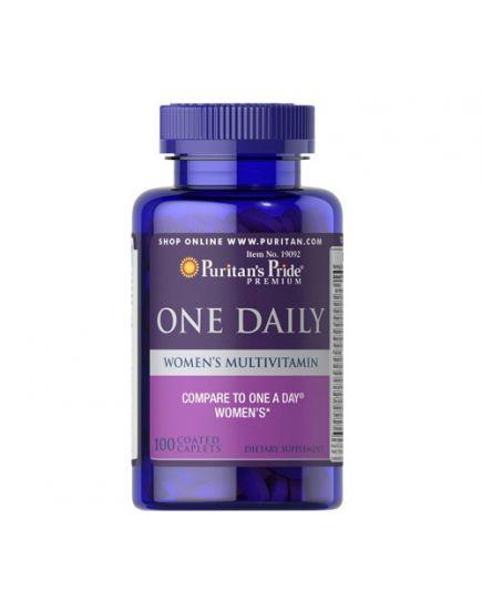 "Витамины и минералы для женщин One Daily Women""s Multivitamin (100 caplets) Puritan's Pride. Фото | Add Power"