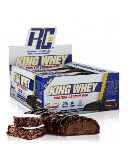 Протеиновые батончики King Whey Protein Crunch Bar (57 g) Ronnie Colman. Фото | Add Power