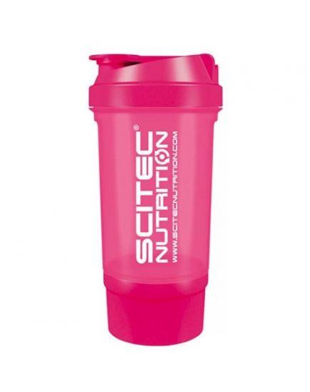 Шейкеры для спортивного питания Шейкер - Travel Pink (500 ml + 100 ml) Scitec Nutrition. Фото | Add Power