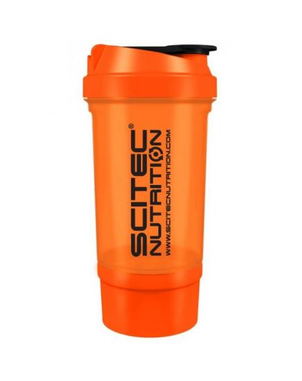 Шейкеры для спортивного питания Шейкер - Travel Orange (500 ml + 100 ml) Scitec Nutrition. Фото | Add Power