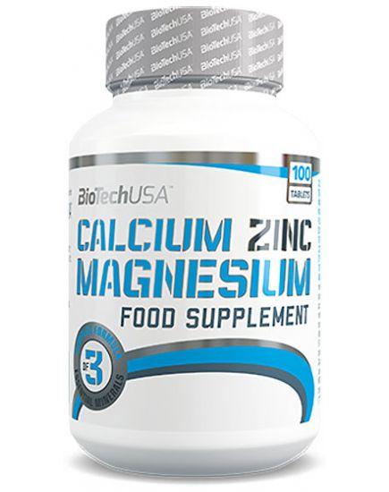 Минералы для спортсменов Calcium-Zinc-Magnesium (100 tabs) BioTechUSA. Фото | Add Power