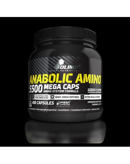 АМИНОКИСЛОТЫ ANABOLIC AMINO 5500 MEGA CAPS (400 caps) Olimp Sport Nutrition. Фото | Add Power